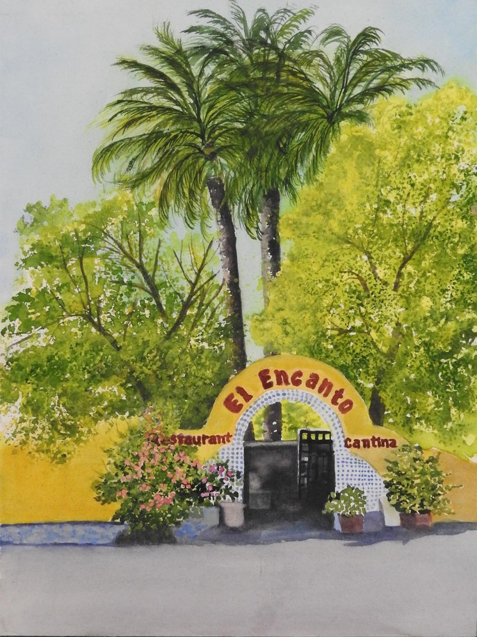 El Encanto watercolor painting