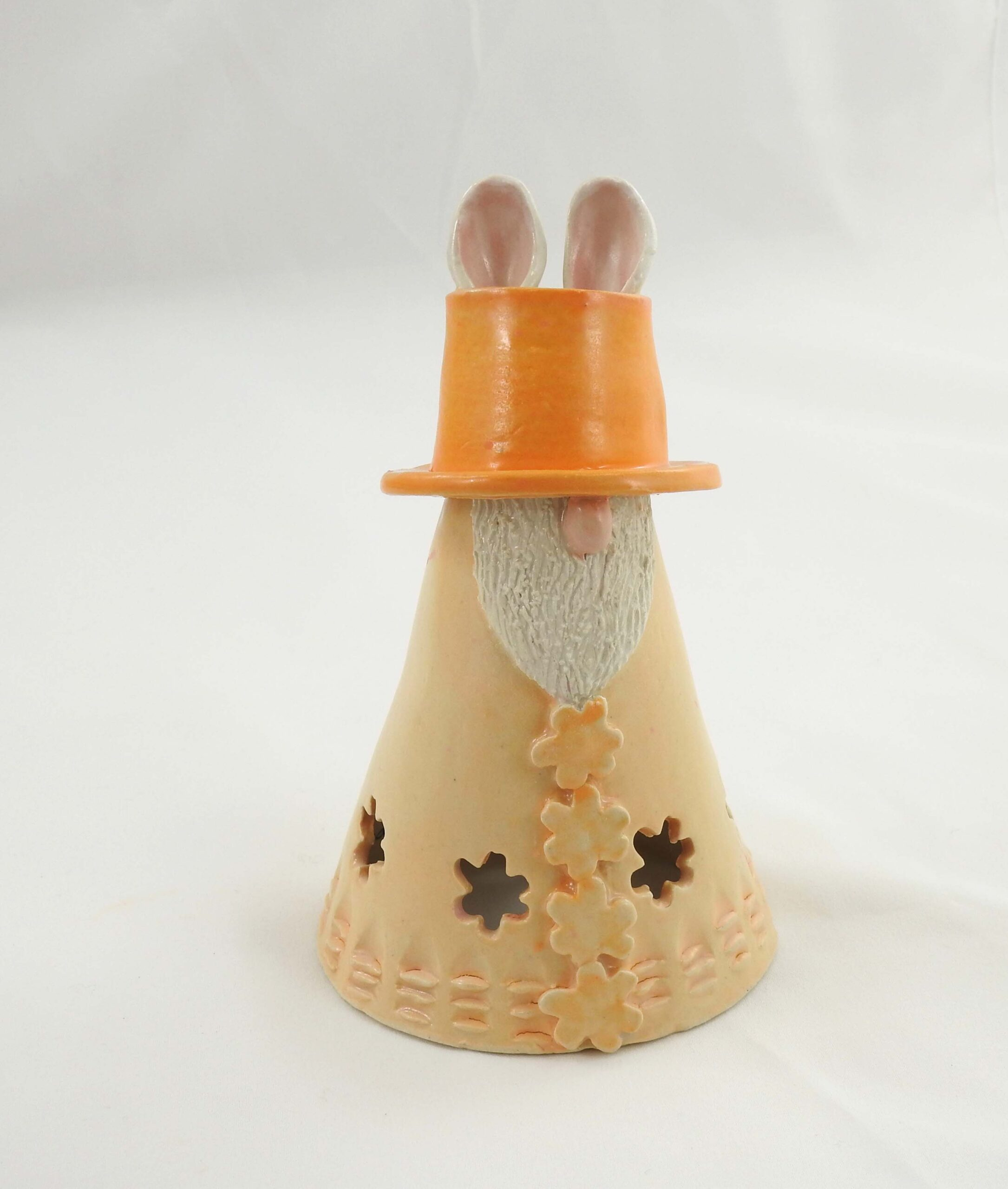 Hand-built Ceramic Easter Bunny Gnome